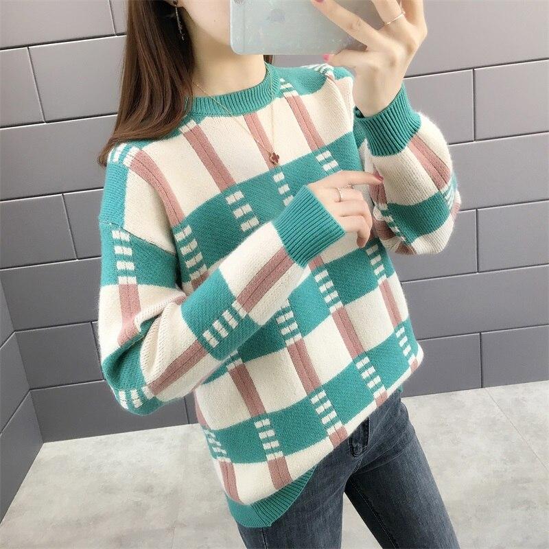 5610 (n. ° 1 fila 5 DE Zhongfang) otoño e invierno nuevo cuello redondo Chaqueta de punto Delgado suéter 43ff