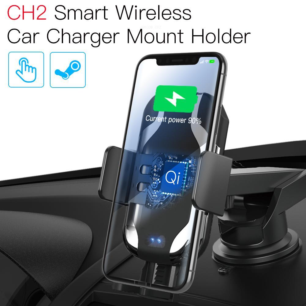 JAKCOM CH2 Smart Wireless Car Charger Mount Holder Best gift with usb type c charge 4 one lighter fast solar power bank