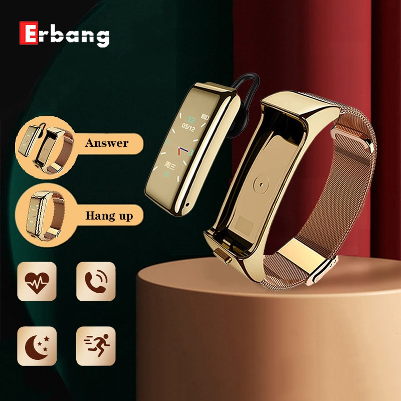 AliExpress - ERBANG – B6 Men's and women's bluetooth headset color screen smart bracelet sports multi-function call two-in-one smart watch