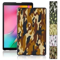 case for samsung galaxy tab a 10 1 2019 t510 t515 camouflage pattern plastic protective back tablet shell cover free stylus