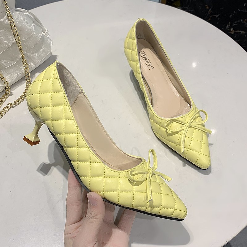 Women's high heels women's high heels women's high heels pointed toe feminine party shoes office ladies wedding party fashion