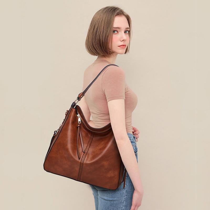 FUNMARDI Fashion Luxury Soft Leather Handbag 2021 Brand Women Bag Hobo Design Hand Bag Female Totes Shoulder Bags Lady WLHB2216