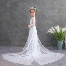 Anna Elsa 2-vestido de Princesa blanca, Blancanieves, vestidos infantiles para niñas, fiesta de Halloween, disfraz infantil, fiesta, Princesa
