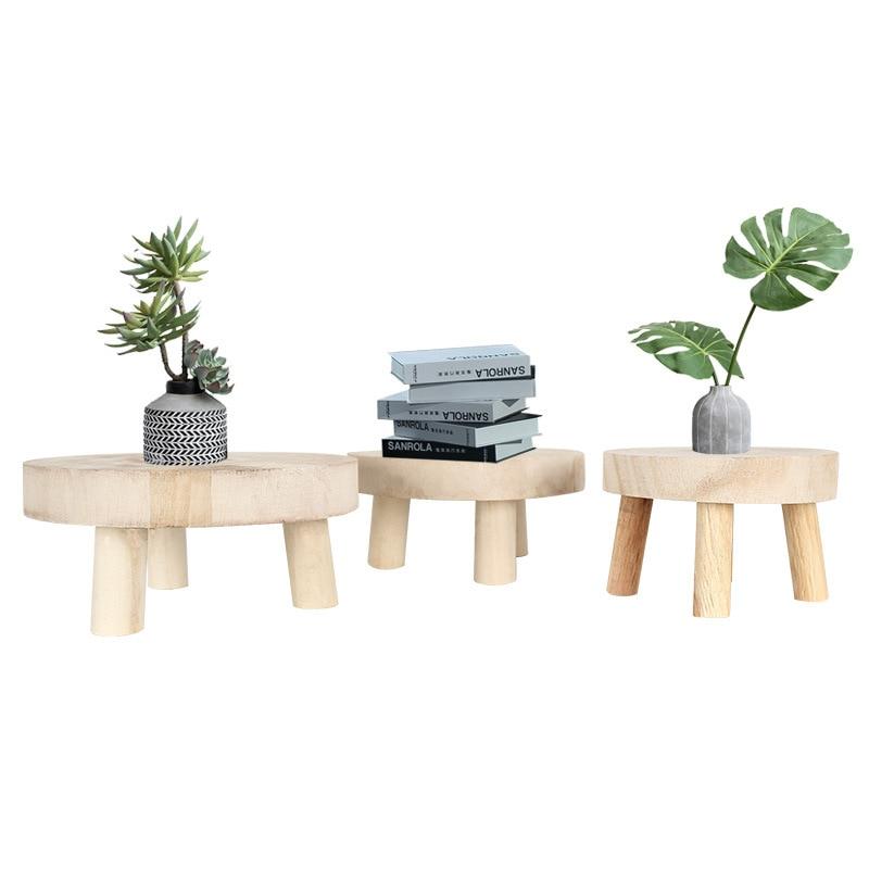 New Wooden Plant Pot Holder Stand Flower Display Shelf Indoor Outdoor Garden Patio Flower Pot Base Holder Stool Orchid Bench