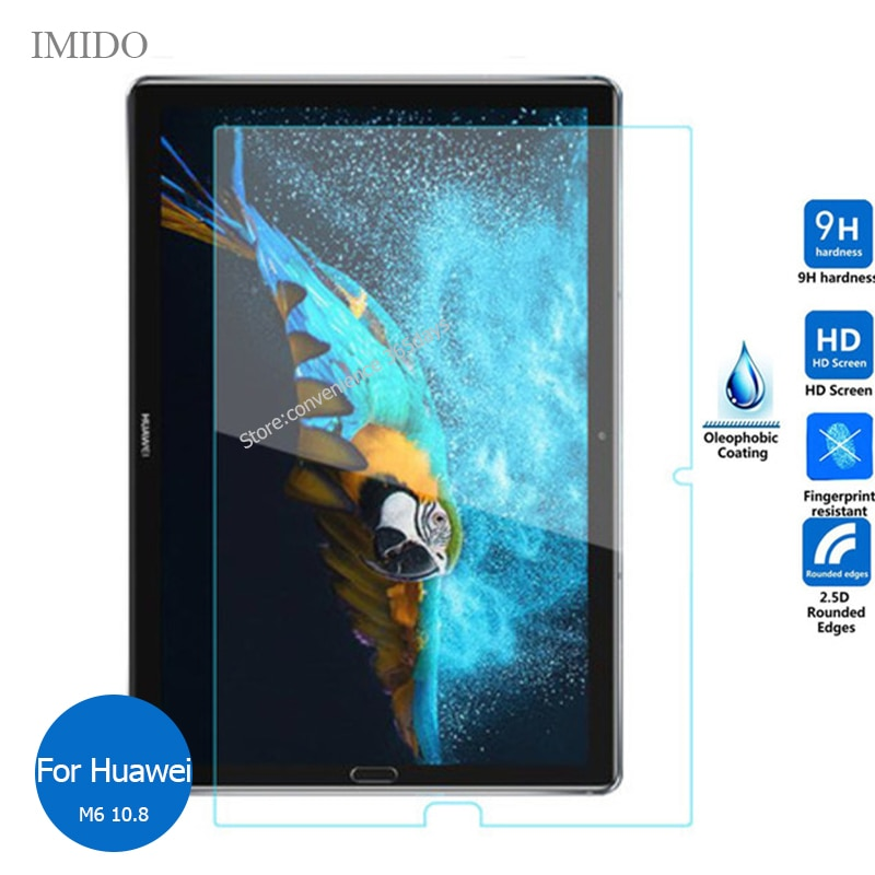 For Huawei Mediapad M6 10.8 Tempered Glass Screen Protector Safety Protective Film On Media pad M 6 SCM W09 AL09