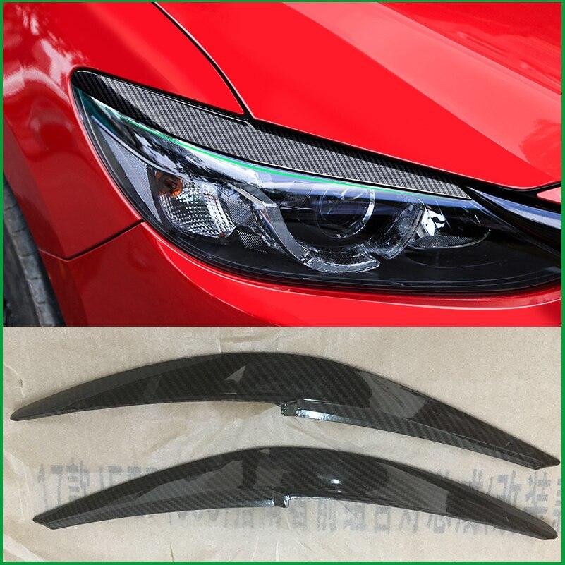 Diseño de coche M6 ABS faro ceja decorativo cubierta pegatina embellecedor para Mazda 6 2016 2017 M6 Exterior faro párpado Auto partes