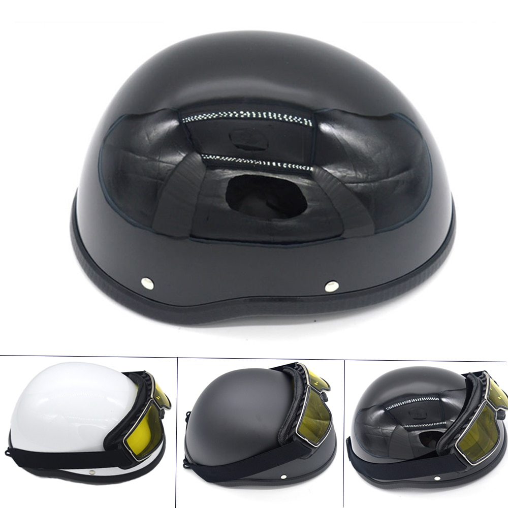 Summer Half Motorcycle Helmet For Classic Vintage Half Face Helmet Retro German Chopper Cruiser Matte Black Helmets Cascos Para enlarge