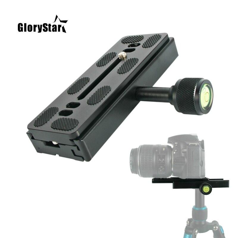 Pinza para cámaras abrazadera de montaje de placa larga adaptador de placa de trípode abrazadera de lente de telefono para placa de Arca Swiss trípode dslr Cámara QR120