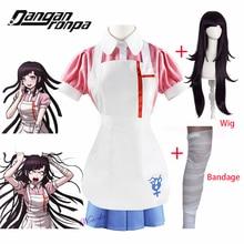 Anime Danganronpa Mikan Tsumiki Costume Cosplay festa di Halloween Ultimate Nurse Costume Pink Cafe Maid Uniform Outfit For Women