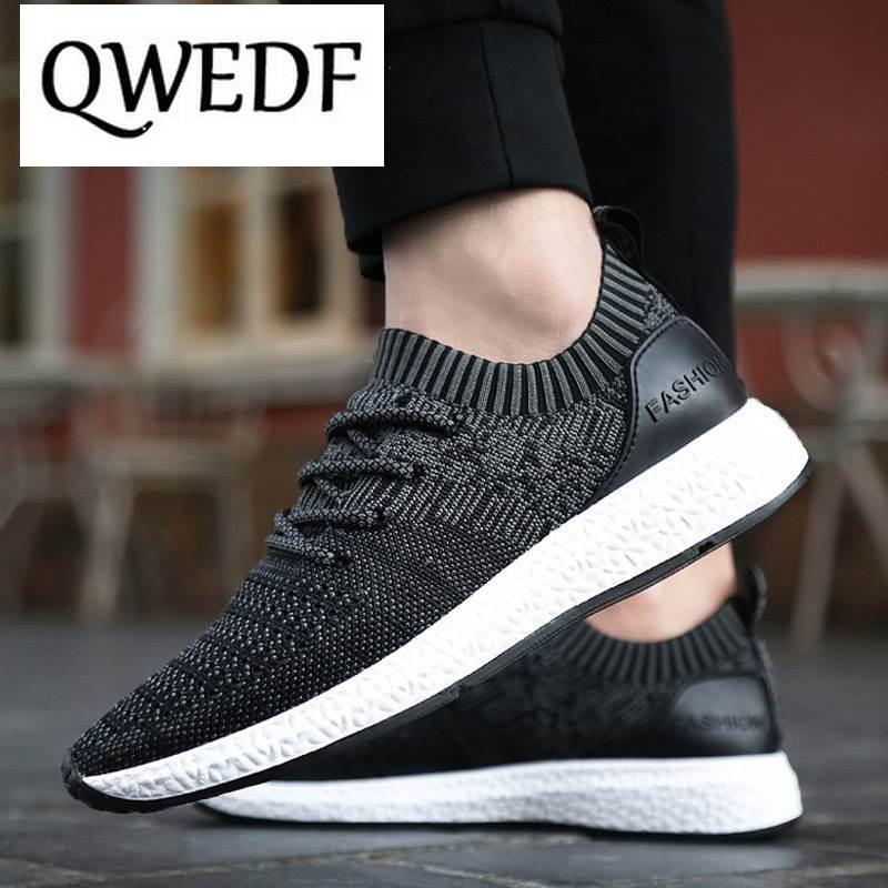 QWEDF 2019 nueva primavera verano hombres zapatos casuales calzado transpirable hombres zapatos negros caminar zapatillas de deporte Hombre cómodas GA-36