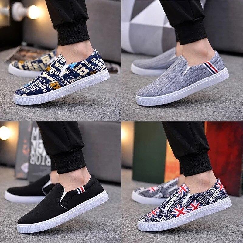 Men Canvas Shoes 2020 New Spring Autumn Fashion Solid Color Men Vulcanized Shoes Lace-up White Casual Shoes Men Sneakers