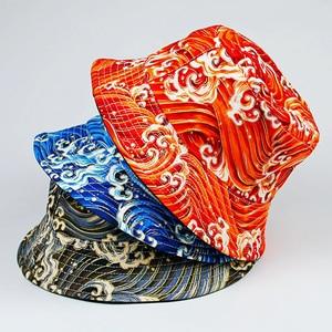 2021 New Double Sided Bucket Hat Hats for Women Wave Pattern Panama Men Fishing Cap Summer Gorro Casquette Muts Caps Chapeau