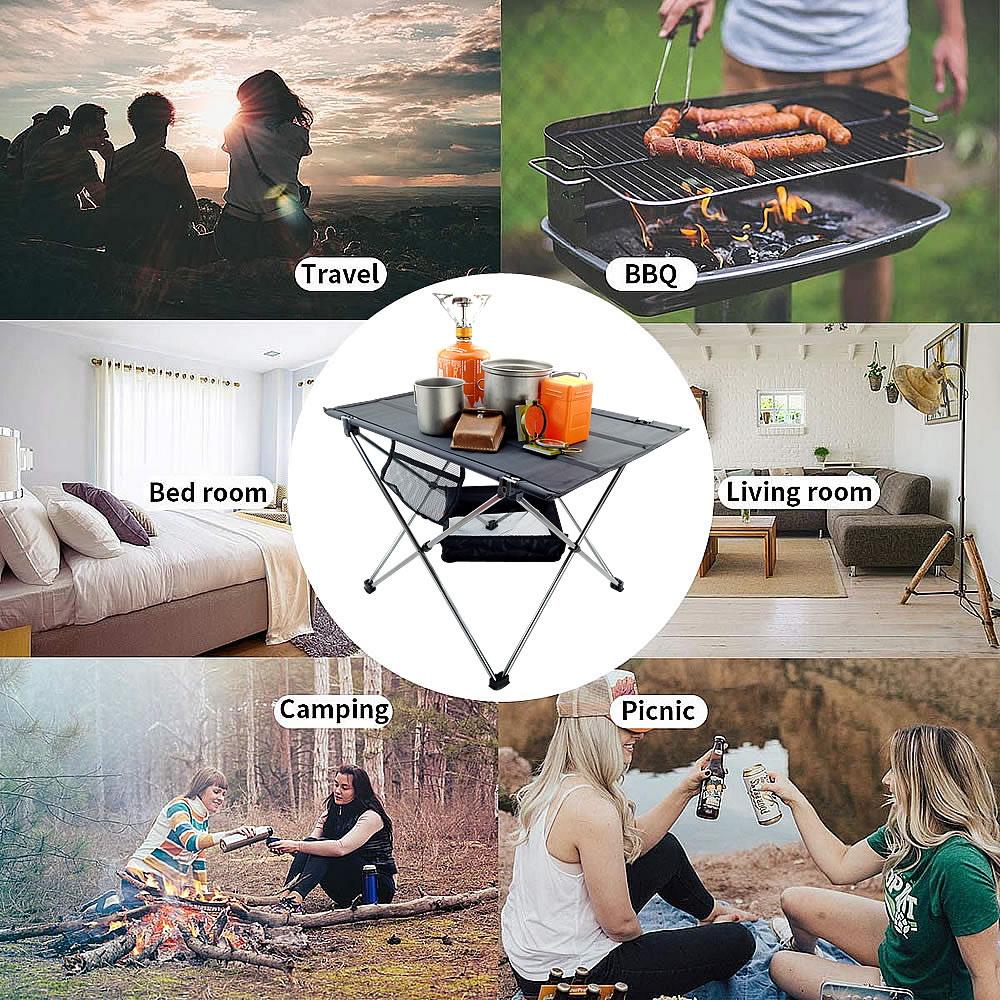 Outdoor Portable Folding 7075 Aluminum Alloy Ultralight Table Picnic Hiking Camping Fishing Dining Barbecue