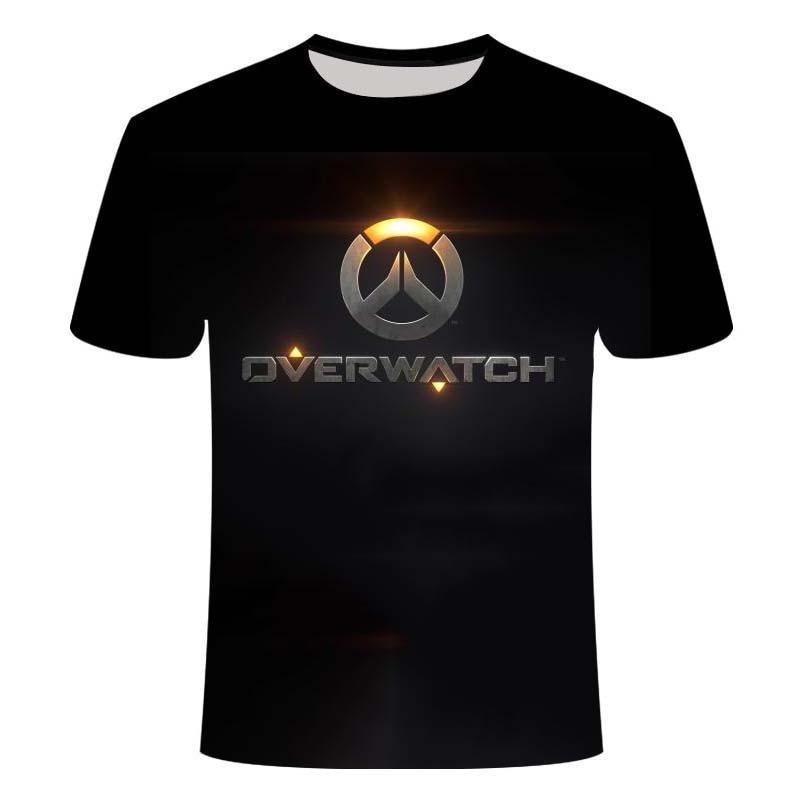 2019overwatch jogo logotipo gamer gaming tshirt 3d sobre manga curta t camisas gaming top blizzard overwatch personagens de jogos de vídeo