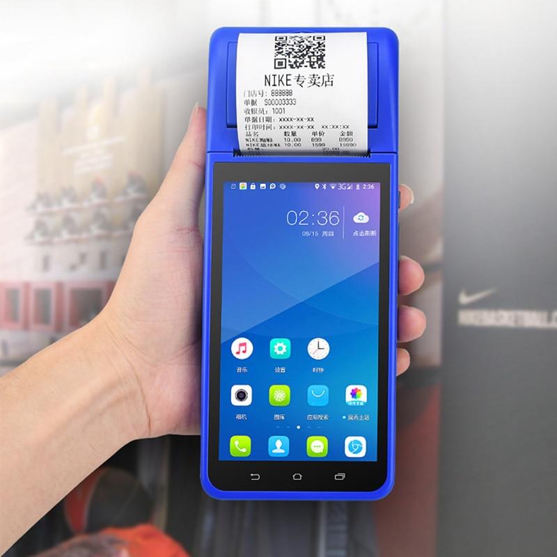 طابعة حرارية مزوّدة بخاصية البلوتوث 58 مللي متر واي فاي جهاز محمول باليد POS جهاز أندرويد المساعد الشخصي الرقمي NFC لاسلكي مجاني نظام نقاط البيع ...