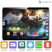 2021 new 10 inch tablet pc octa core 6gb ram 128gb rom android 9 0 wifi bluetooth gps 4g phone call dual sim 2 5d tablets