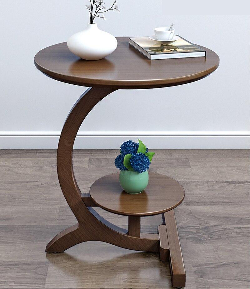 Прикроватный столик из массива дерева, Маленький журнальный столик для гостиной, Диванный прикроватный столик, съемный круглый прикроватн... zmebel прикроватный столик amnesia