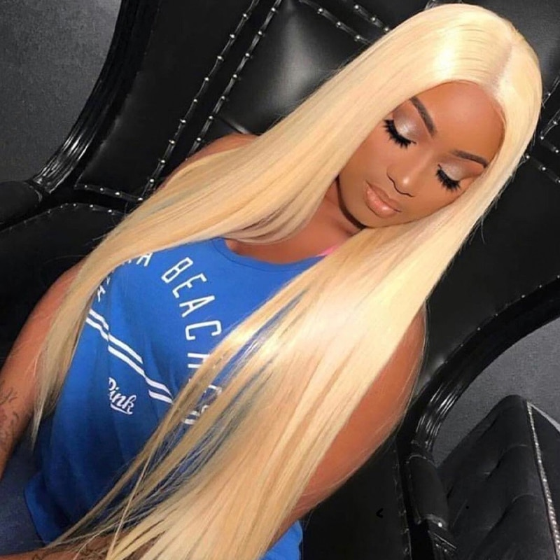 613 Blonde 13x5 Lace Front Human Hair Wigs for Women Pre Plucked Hairline 180% Denisty Brazilian Lace Front Wigs with Baby Hair