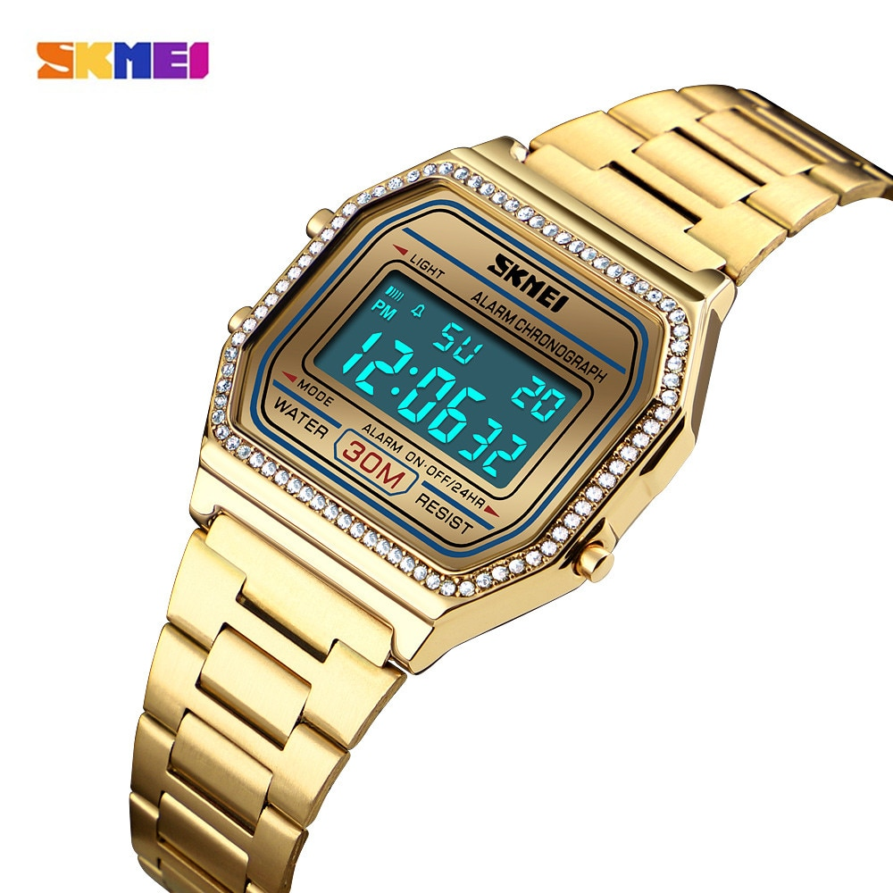 SKMEI Top Brand Women Electronic Wrist Watch Chrono Back Light Female Sports Watches Ladies Digital Clock Relogio Feminino 1474 enlarge