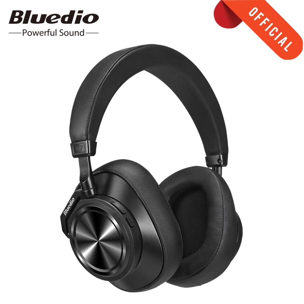 Bluedio T7 Plus Headphone Active Noise Canceling Smart Bluetooth 5.0 Earphone Headband AI Face Recognition Wireless Headset t7+