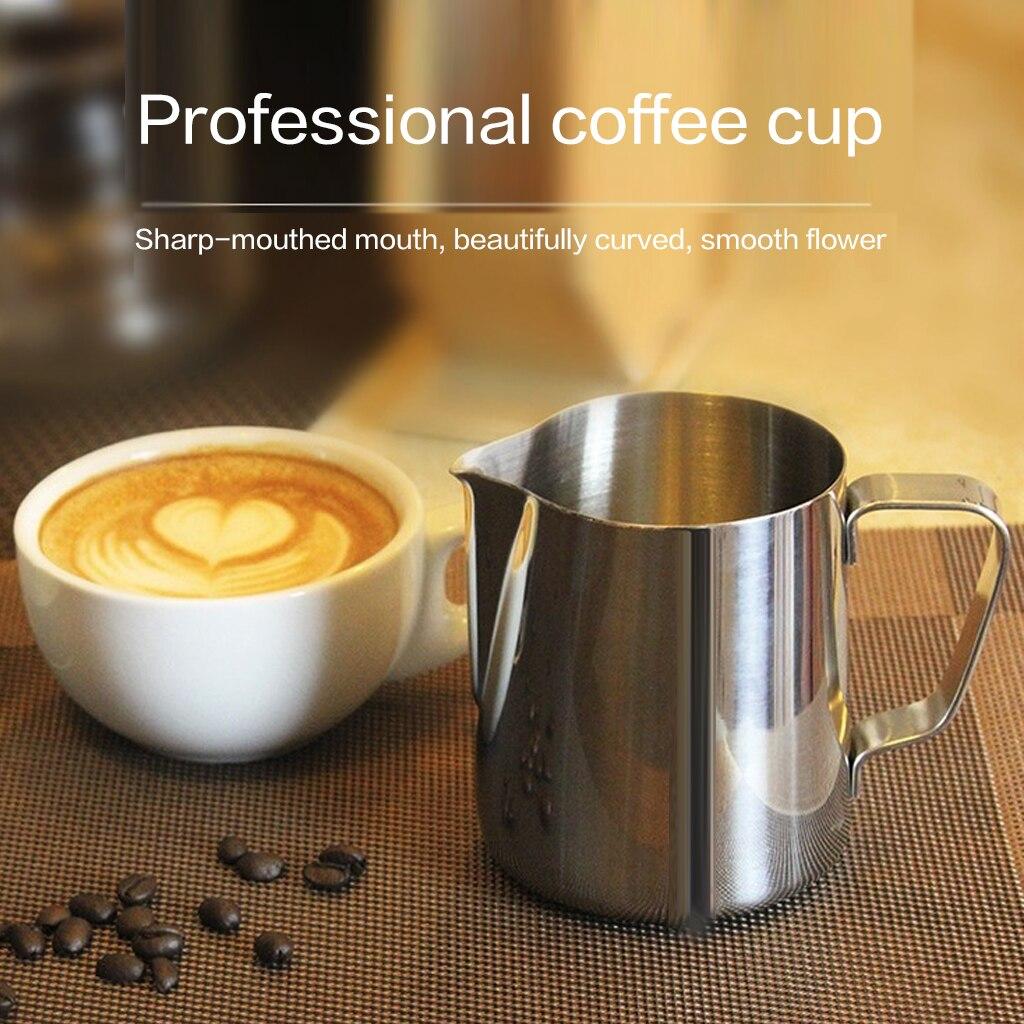 Jarra de espuma de leche de acero inoxidable, fantástica cocina, jarra de café Espresso, jarra de café artesanal Barista, Latte, jarra de espuma de leche