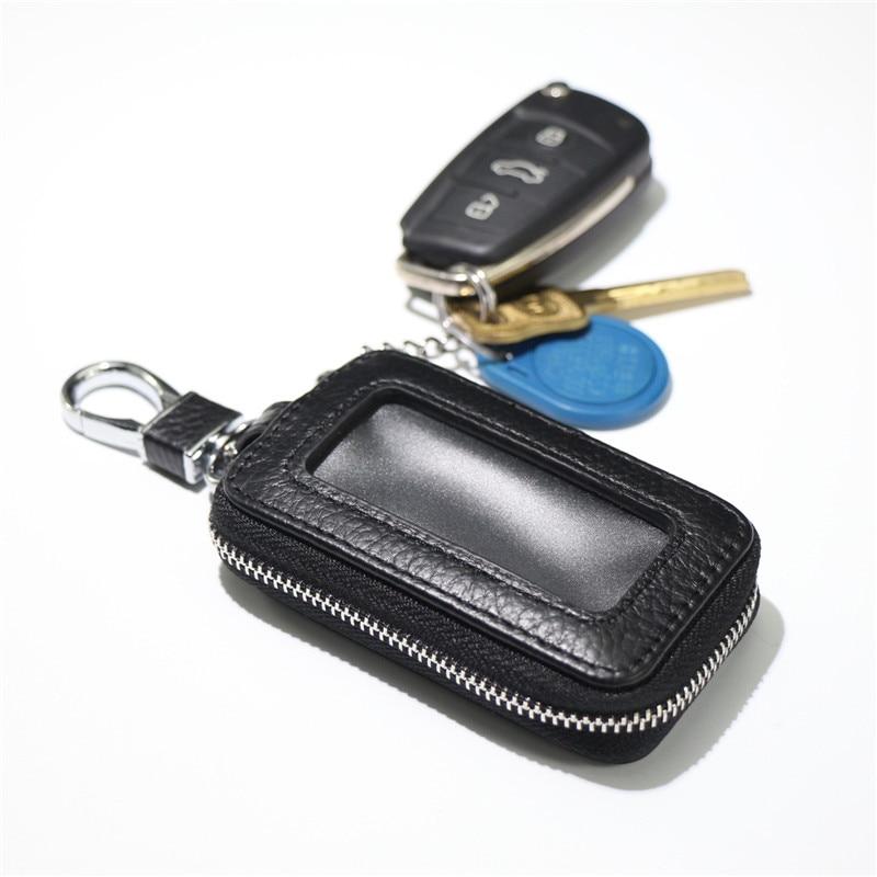 2020 Genuine Cow Leather Men & Women Car Key Bag Wallet Multi Function Key Case Fashion Housekeeper