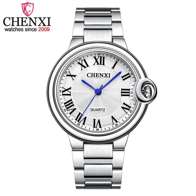 CHENXI Men's Quartz Watches Stainless Steel Chronograph Life Waterproof Analogue Wristwatch for Man Metal Dial Couples Clock
