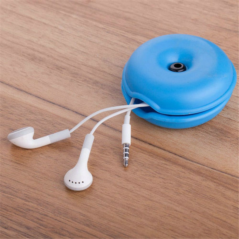 1pc Cute Cable Winder Desk Organizer Earphone USB Cable Line Wire Holder Protector Office Accessories Storage Supplies