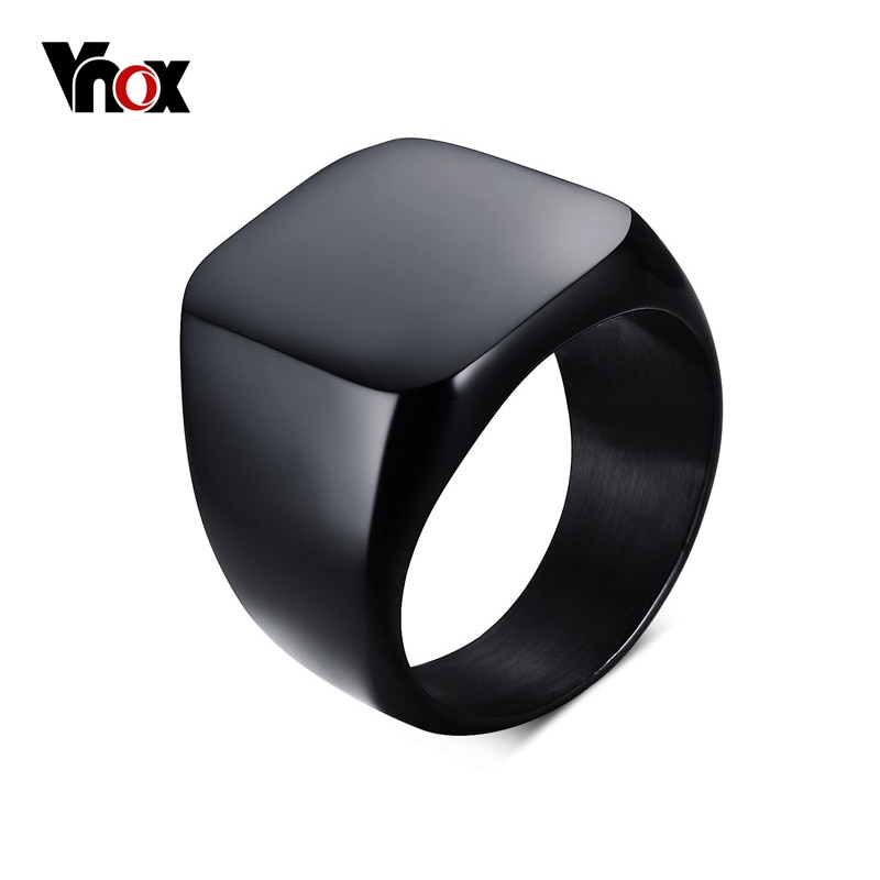 aliexpress.com - Vnox Men's Signet Rings Cool Fashion Individuality Stainless Steel 5 Color Party Jewelry