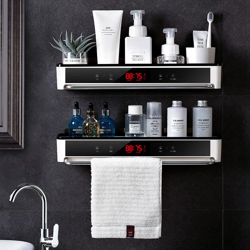 Estantería organizadora para baño sin necesidad de agujerear, estante de almacenamiento para cosméticos y champú, soporte para toalla de cocina, artículos para el hogar, accesorios para el baño