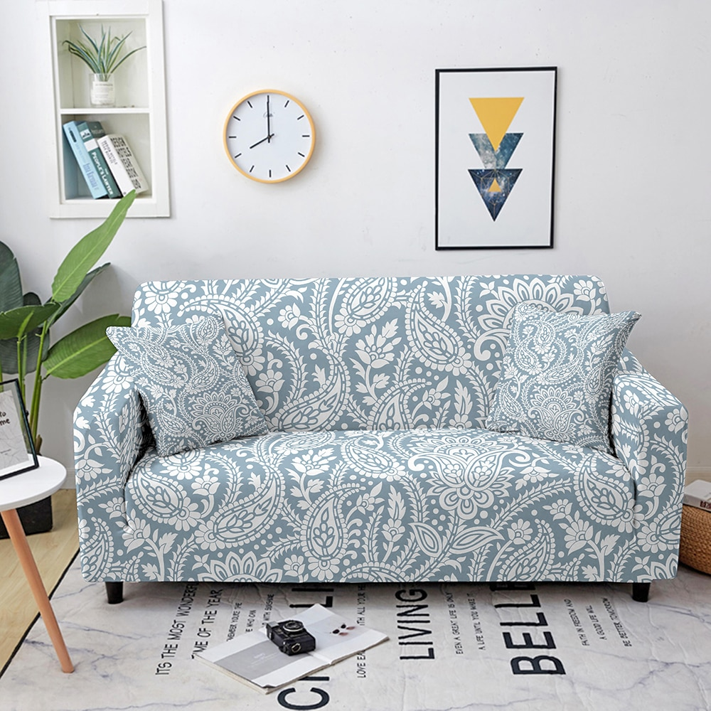 couch cover sofas covers universal stretch elastic couch covers for living room sectional corner l shape sofa cover 18 colors Paisley Floral Elastic Sofa Covers for Living Room Non-slip Stretch Slipcover Sectional Couch Cover L Shape Corner ArmchairCover