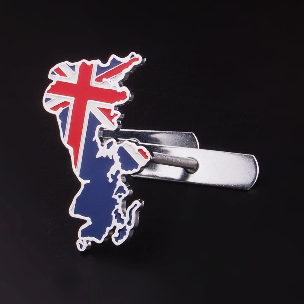 Carrera de automovilismo del Reino Unido bandera de Inglaterra parrilla emblema frontal pegatina Union jack Calcomanía para Jaguar Land Rover Mini BMW