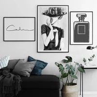 fashion posters print sexy lady wall art cover magazine canvas painting perfume home decoration girls room wall pictures