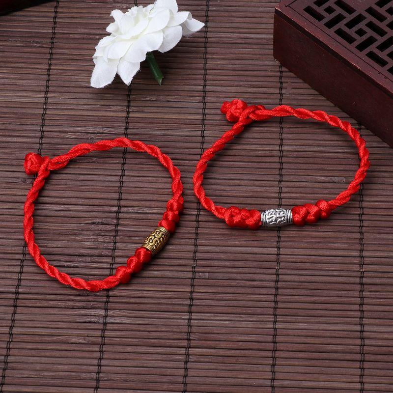Pulseira de corda vermelha para proteção, mau olho e boa sorte, amuleto para o sucesso e prosperidade, pulseira de amizade, jóias