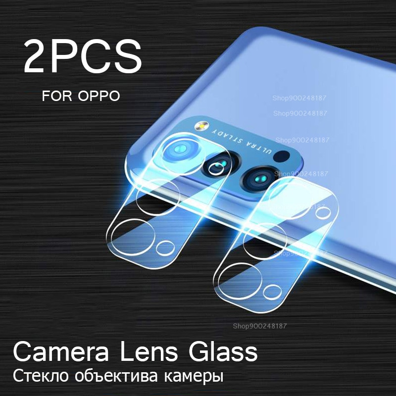 2 Pcs Protective Glass for Oppo A72 A92 A52 Camera Len Screen Protectors Glass on For A5 A9 2020 Tem