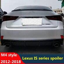 CEYUSOT pour Lexus IS série aileron aile 12-18 ABS matériel spoiler IS200t IS250 IS300 IS350 queue voiture coffre accessoires M4 style