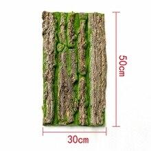 Natürliche Künstliche Gefälschte Rinde Baum Moos Landschaft Hause Terrasse Simulation Baum dekoration und Decor 50X30cm