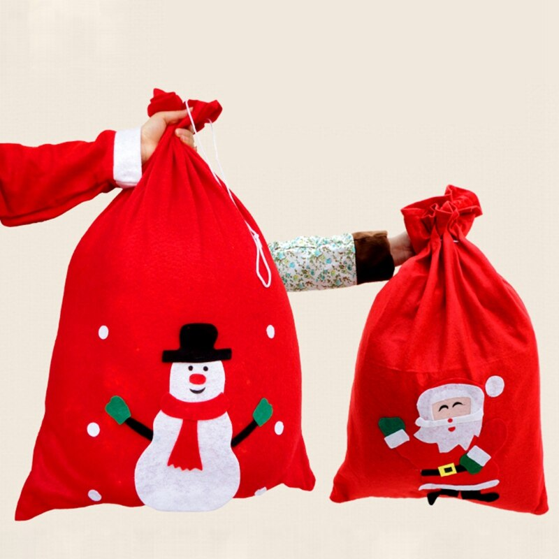 Bolsa de regalo de caramelo bolsa de Navidad patrón de dibujos animados bolsa divertida decoración de Casa decoración de Navidad bolsa de almacenamiento