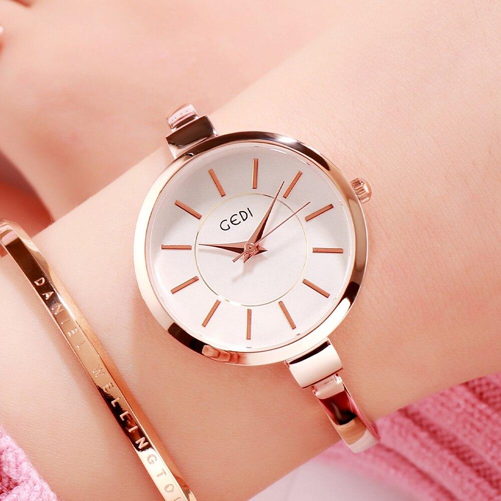 Fashion Women's Watches 2021 Luxury Brand Bracelet Watch Rose Gold Casual Dress Ladies Watch New Qua