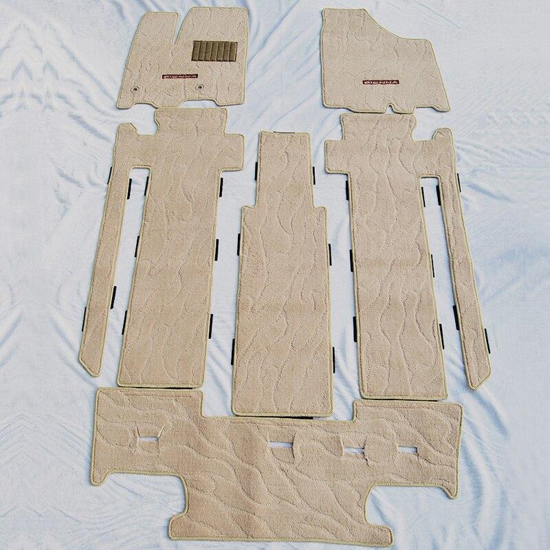 Dedicated car floor mats for TOYOTA SIENNA car mat anti slip carpet mat car pad for sienna 7or 8 seat trunk mats car accessories