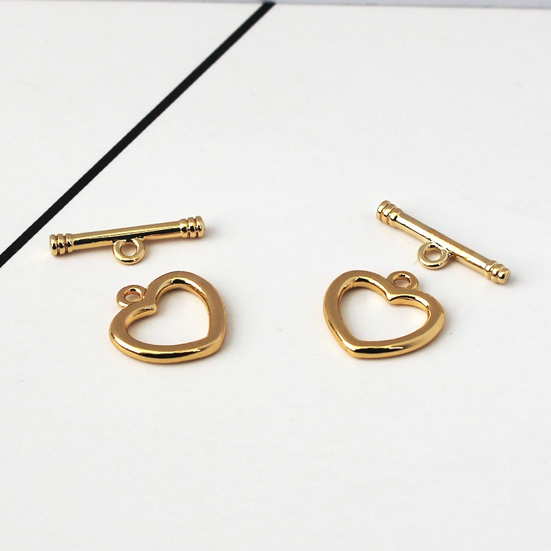 14K bag gold color ot buckle material bag DIY handmade bracelet necklace end buckle accessories chain link buckle 50cm diy handmade jewelry accessories authentic gold electroplated pearl crystal chain earrings necklace bracelet material