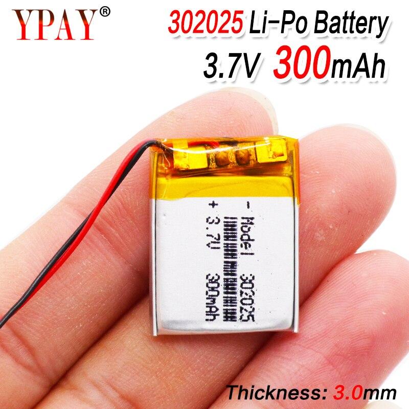 1/2/4pcs 3.7 V 300mAh 302025 Lipo Li-polymer Lithium Polymer Batteries With PCM For MP3 MP4 MP5 Bluetooth Headset Smart Watch