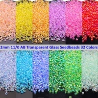 720pcs 2mm ab colorful glass beads 110 round spacer beads cezch glass seed beads for handmade jewelry diy garment accessories
