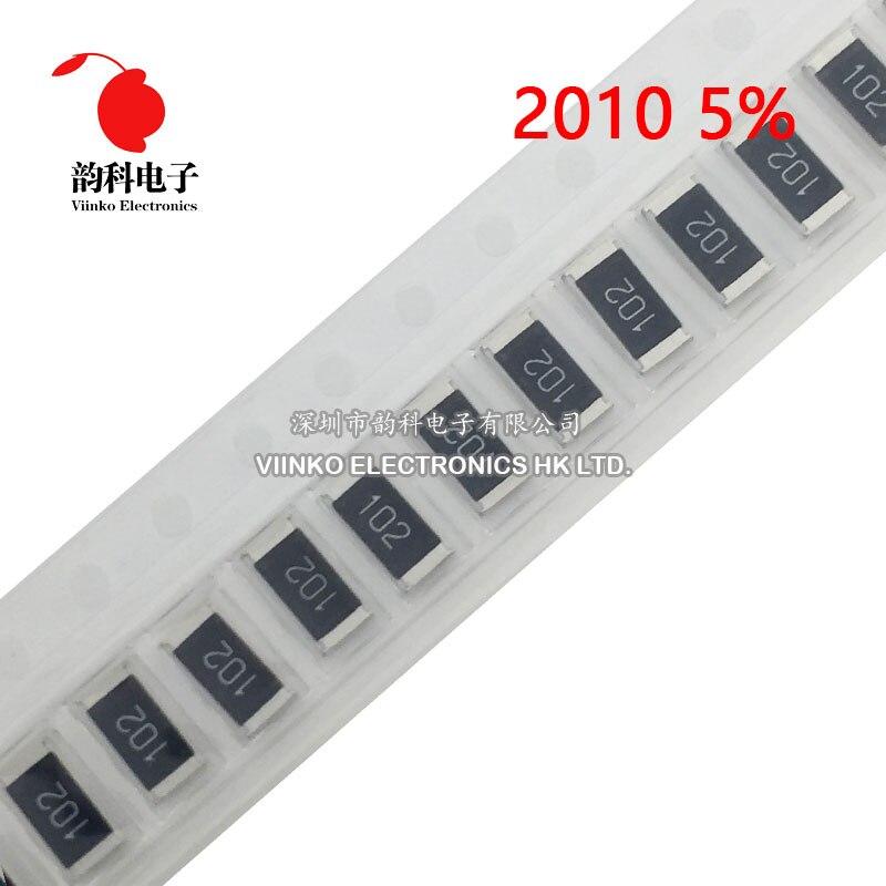 50pcs 2010 5% résistance SMD 3/4W 620K 680K 750K 820K 910K 1M 1.1M 1.2M 1.3M 1.5M 1.6M 1.8M 2M 2.2M 2.4M 2.7M 3M 3.3M 3.6M ohm
