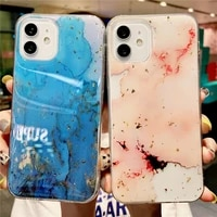 uslion sparkling epoxy marble phone protection cover for iphone 11 12 pro max mini x xr xs xsmax 7 8 plus se 2020 soft back case