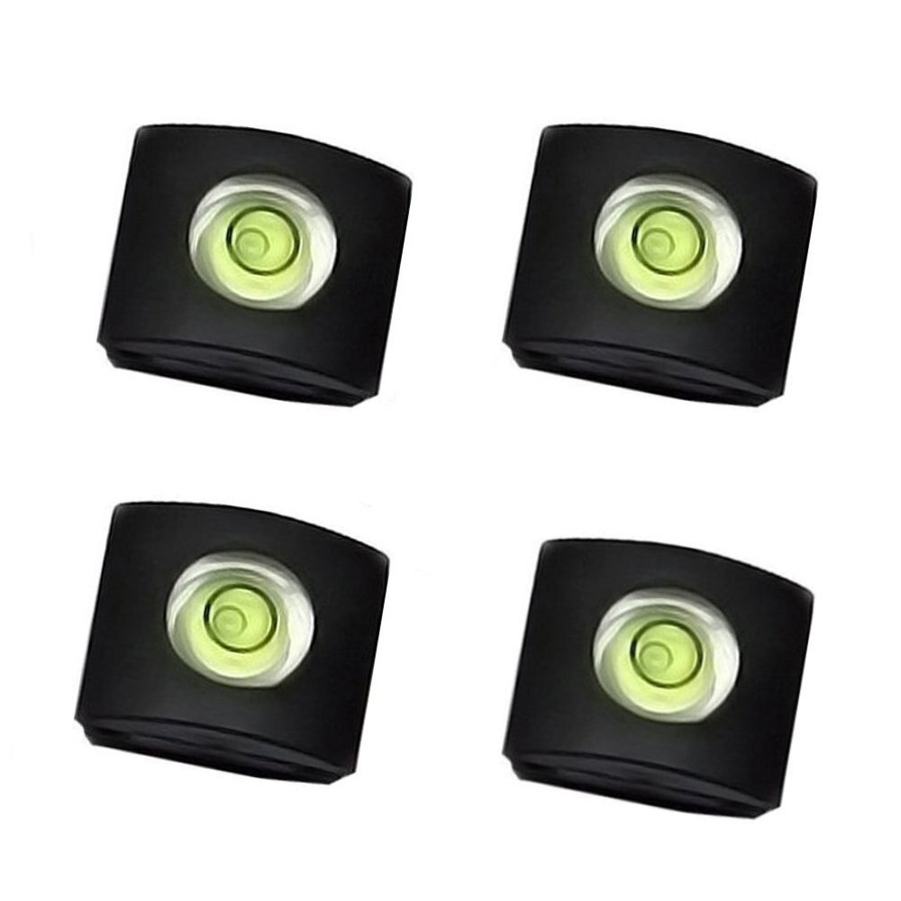 4Pcs/Set Camera Bubble Spirit Level Hot Shoe Protector Cover for DSLR Cameras Hotshoe Caps Accessories