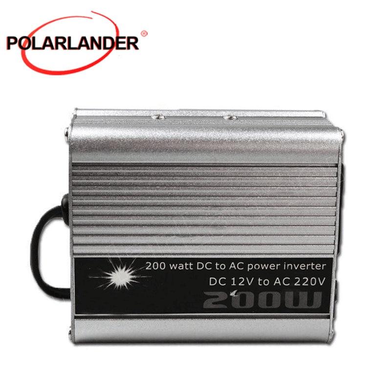 DC 12v a AC 220v USB cargador modificado sine wave coche voltaje transformador gran oferta 200W coche convertidor/inversor de potencia