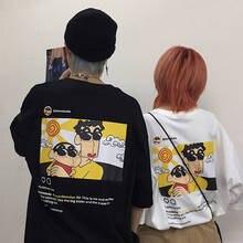Crayon Shin Chan T-shirt Summer Funny T shirt Cartoon Boys Short Sleeve Summer Clothing T-Shirt Kawaii Tshirts Streetwear Tops