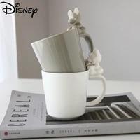 disney mickey mouse mug cute cartoon mickey teacup coffee cup creative dark blue glazed three dimensional