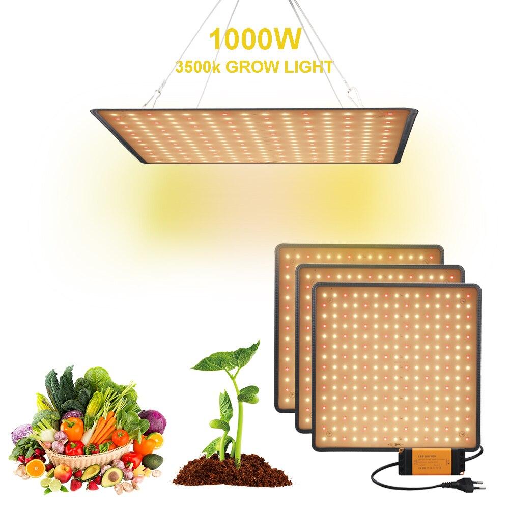 Lámpara LED Phyto de 1000W de espectro completo, luz LED de cultivo, AC85-265V Fitolampy para hierbas de interior, plantas semillas, flores, Fitolamp